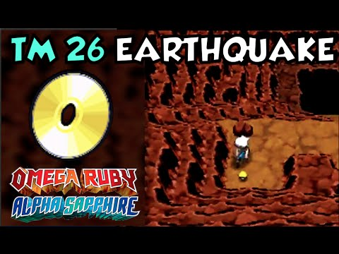 Where How To Find Tm 26 Earthquake Pokemon Omega Ruby