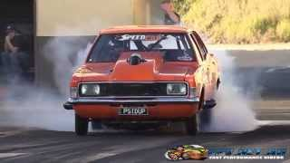 FASTEST OUTLAW RADIAL PASS IN AUSTRALIA PSIDUP SCF RACE CARS CORTINA 6.83 @ 224 MPH 28.11.2014