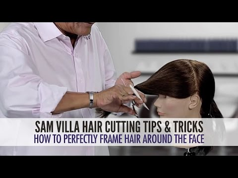 How to shape hair around the face