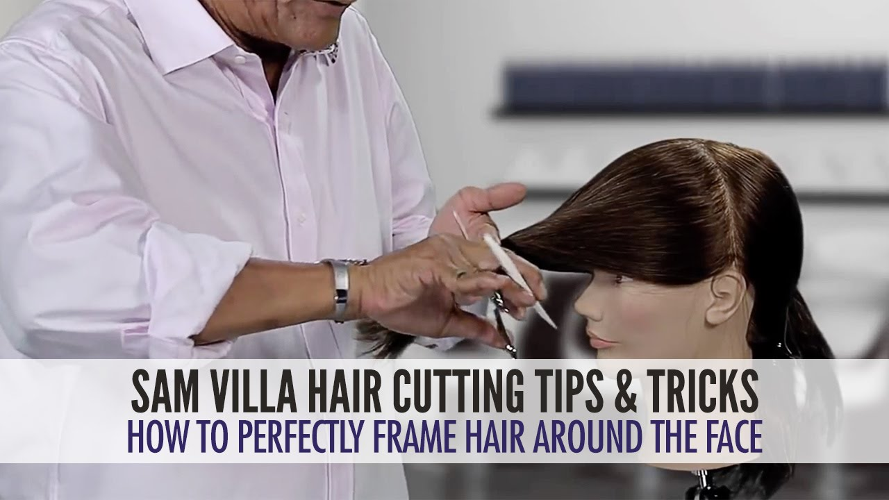 How To Perfectly Frame Hair Around The Face Youtube