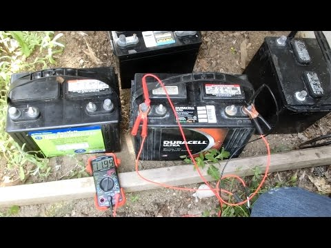Solar Sunday 0010: broken panels and old batteries, cheap off-grid system