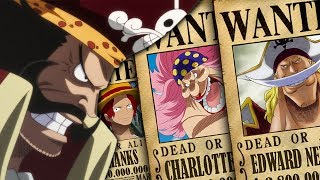 Old Era Pirates Bounties (24 Years Ago) in One Piece Chapter 914+