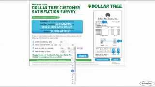 www.dollartreefeedback.com Dollar Tree survey video by Surveybag