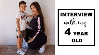 CUTEST INTERVIEW WITH MY 4 YEAR OLD SON  | Single Mom Vlog