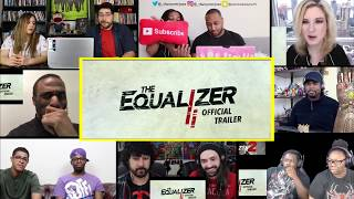 THE EQUALIZER 2 - Official Trailer REACTIONS MASHUP
