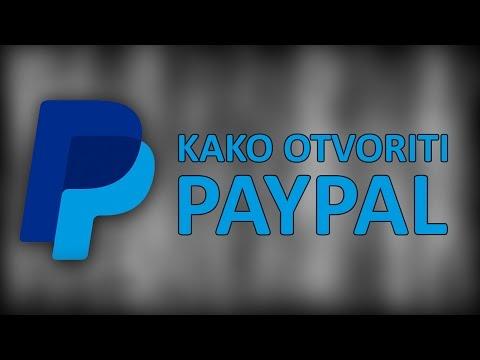 Kako otvoriti PayPal