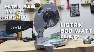 "Unboxing Miter Saw RYU RMS 180 7"" 900 Watt"