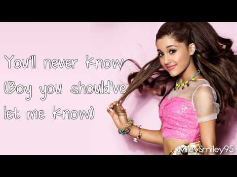Ariana Grande - You'll Never Know (with lyrics)