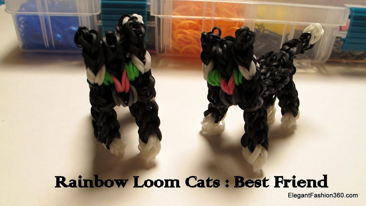 Rainbow Loom 3d Cat Charm