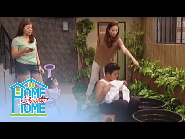 Home Sweetie Home: Julie commands Rence to wash his stained uniform.