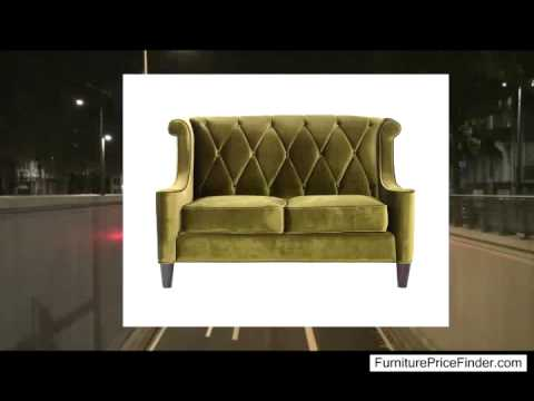Armen Living 844 Barrister Loveseat Green Velvet