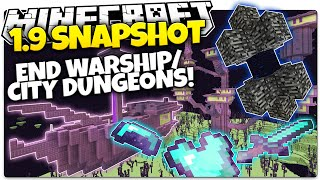 Minecraft 1.9 Snapshot | NEW END CITY DUNGEON & WARSHIP | Epic Loot! (Minecraft 1.9 News)