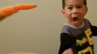 Dad With 'Carrot Fingers' Terrifies Son
