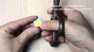 How To Cut A Regular SIM Card Into A MicroSIM Card