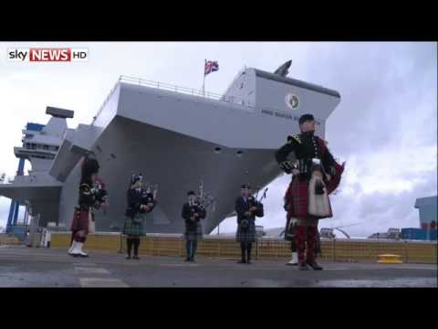 The Queen Names the UK's Newest And Biggest Warship - Sky News