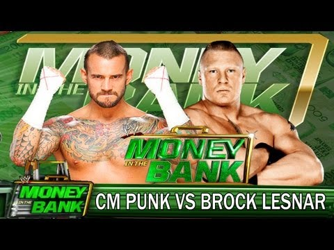 WWE Money In The Bank 2013 : CM Punk vs Brock Lesnar Match
