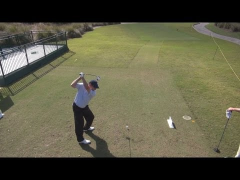 Here's how to view more full HD golf swing videos! http://www.youtube.com/user/GolfswingHD?feature=mhee Golf swing of Senior PGA Champions Tour pro John Huston during a practice round at the...