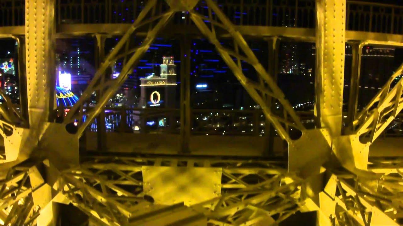 Eiffel Tower In Las Vegas Elevator Ride Hd Youtube