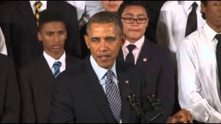 Obama, Announces 'My Brother's Keeper' Pledge  2/27/14
