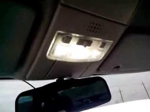 Замена плафона освещения салона