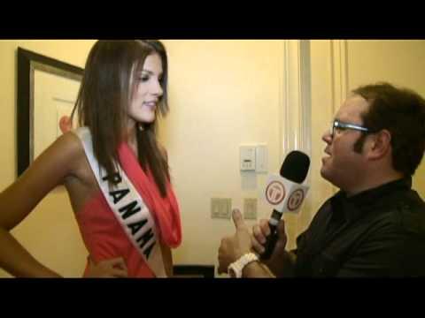 Miss Universe 2010 Las Vegas - Alex Medela entrevista a Miss Panamá Anyoli Abrego