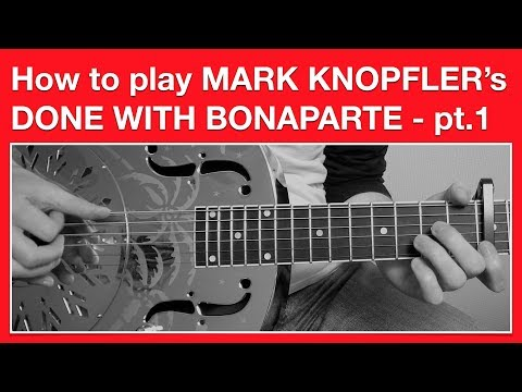 Mark Knopfler - Done With Bonaparte - How to Play SOLO - Open G Tuning