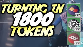 TURNING IN 1800 FACTION TOKENS! OPENING 30 PACKAGES FOR EACH FACTION! [Destiny 2]