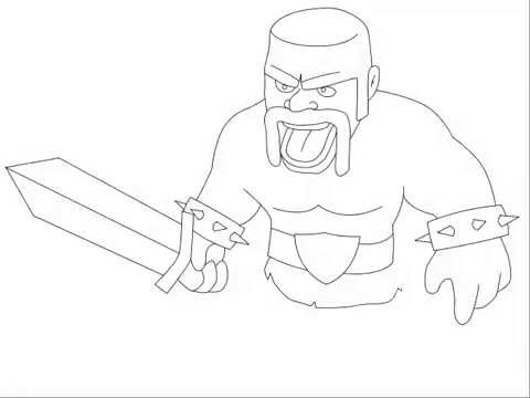 Clash of Clans Drawings How to Draw Barbarian Clash of