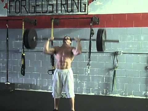 Ladder Superset Workout with Pull Ups and Push Presses Image 1