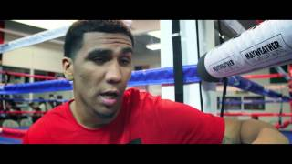 Mayweather Promotions Fighters Media work out for 7/19/2013 ShoBox Show