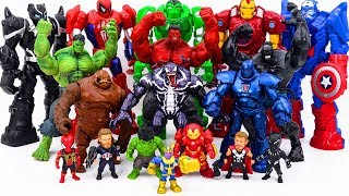 Power Rangers & Marvel Avengers Toys Pretend Play   Hulk Army Rescue Infinity War Squad From Thanos