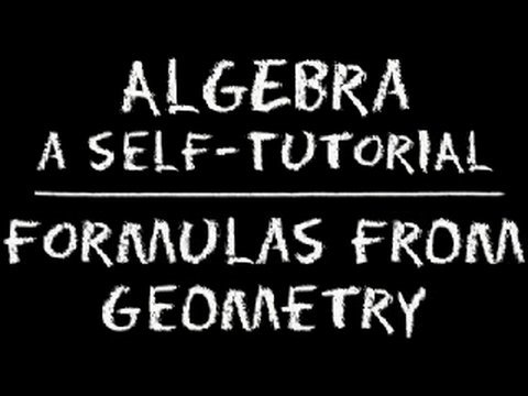 Algebra: Formulas From Geometry