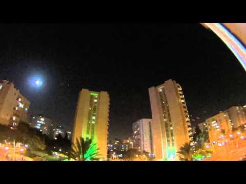 Hamas' rockets fired from Gaza at Tel Aviv, 11/July/2014, 8:42 p.m., Israel Under Rockets Fire