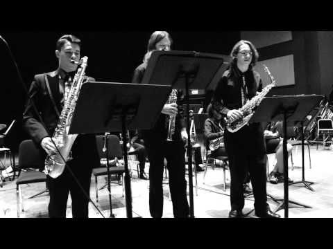 Los Medanos College Jazz Studio Band  'Sax Quartet' May 14, 2014