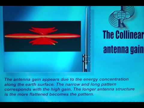 The collinear antenna gain