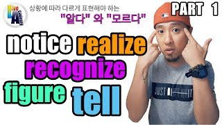 notice, realize, recognize, tell, figure - [Part 1 of 2] - 영어회화