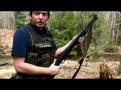 Shooting the Mossberg 590 Tactical Combat 12 Gauge Shotgun