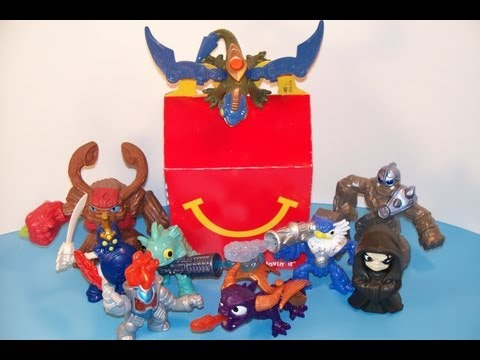 McDONALD'S SKYLANDERS GIANTS FULL SET 1-9 HAPPY MEAL TOYS VIDEO REVIEW