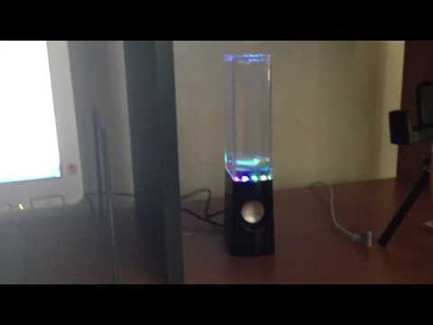 Review on LED Dancing Water PC Speakers (Computer)  (Light)