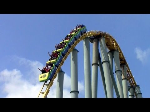Steel Eel off-ride HD SeaWorld San Antonio