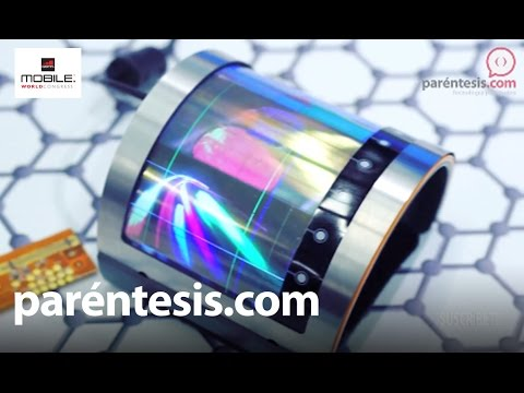 #MWC16: Crean pantallas ultra flexibles con Grafeno, el material del futuro
