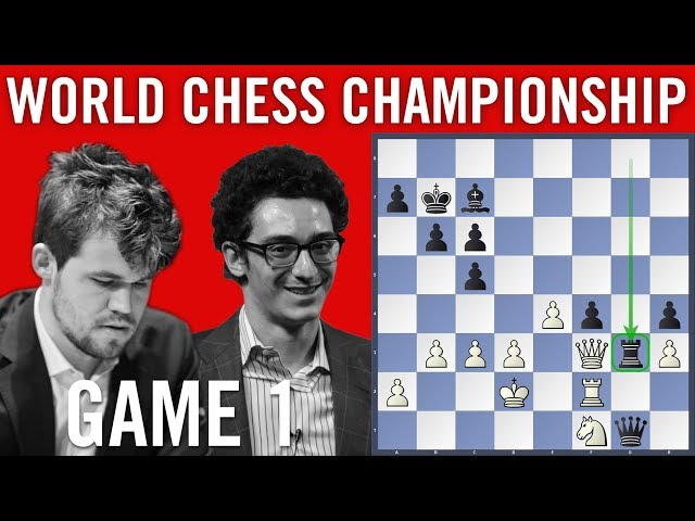 World Chess Championship 2018 Game 1 Magnus Carlsen vs Fabiano Caruana