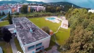 Vsetín, SPŠS Vsetín, Střední průmyslová škola strojnická Vsetín, valašsko z výšky,GoPro, FPV drone
