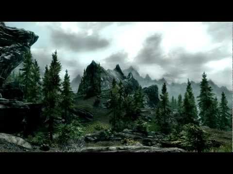 Morrowind orchestral theme on Skyrim landscapes ( piano + violin ) Music Videos
