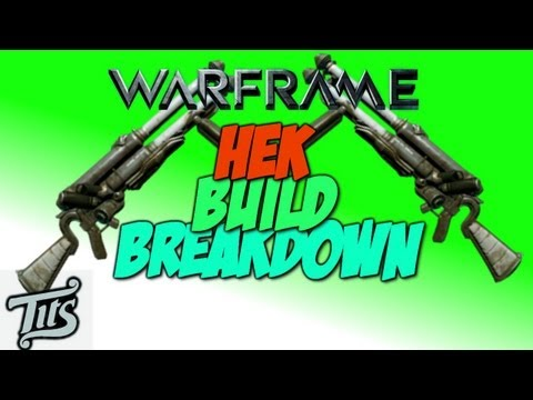 Warframe ♠ 8.0.6 - Top damage dps shotgun build - The Hek with lvl 87+ corpus gameplay