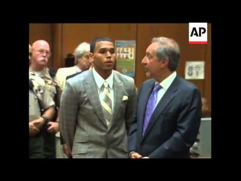 Singer Chris Brown pleads guilty to Rihanna assault, arrivals, court interiors