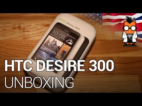 HTC Desire 300 budget smartphone unboxing, hands on & compared to Moto G [ENG]