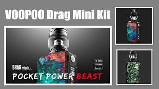VOOPOO Drag Mini Kit - More compact and powered by built-in 4400mAh battery with max 117W丨Vaporl