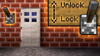 How To Lock Your Doors With ONE Lever! - Minecraft Tutorial