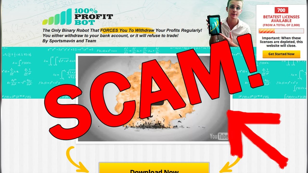 Binary option robot scams